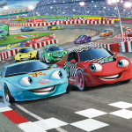 Disney Car Racers Bedroom Mural 10ft x 8ft