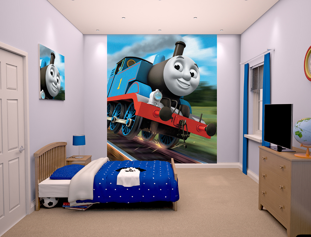 Walltastic Thomas The Tank Engine Bedroom Scene March 2015 1000px