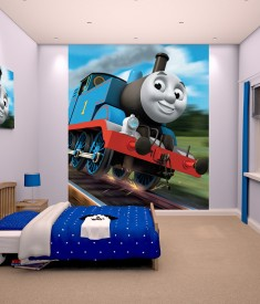 Walltastic Thomas The Tank Engine XL Wallpaper Mural for children & Kids rooms wall decal & photo mural