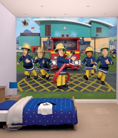 Walltastic Fireman Sam XL Wallpaper Mural for Children's & Kids bedroom, photo Mural wall decal