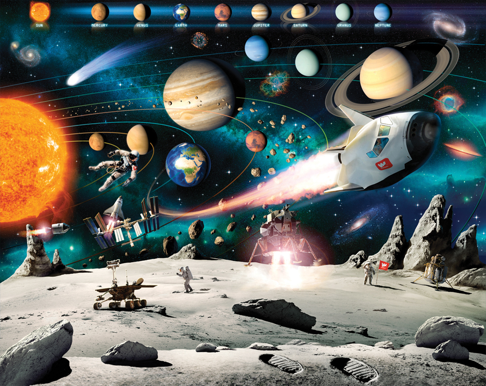 deep space adventure bedroom mural 10ft x 8ft walltastic space adventure 41837 12 panel mural
