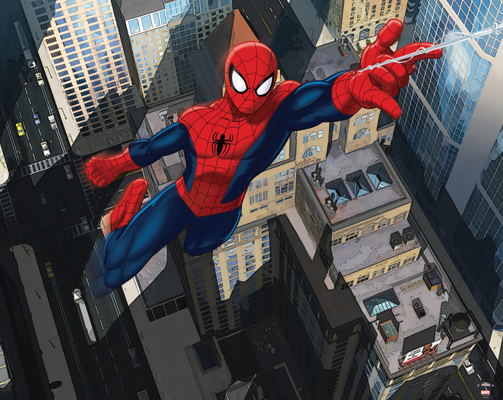 The ultimate spiderman wallpaper mural 8ft x 10ft walltastic for more information or for details on how to buy this product contact us amipublicfo Choice Image