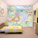 Baby Jungle Safari Bedroom Mural 10ft x 8ft