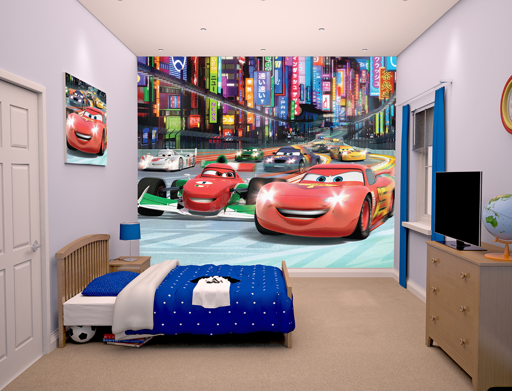 Walltastic Disney Cars Bedroom Scene March 2015 1000px