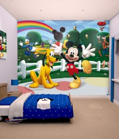 Disney Mickey Mouse XL Wallpaper Mural For Childrenu0027s U0026 Kids Bedroom, Photo  Mural Wall Decal Part 27