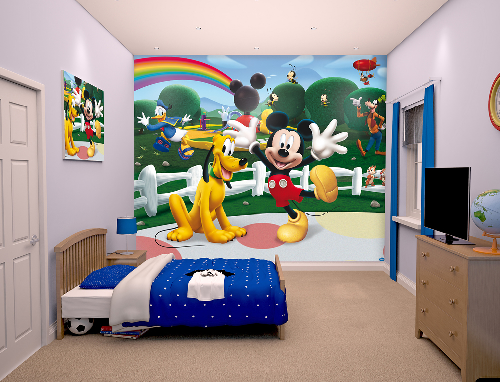 disney mickey mouse clubhouse mural 10ft x 8ft walltastic. Black Bedroom Furniture Sets. Home Design Ideas