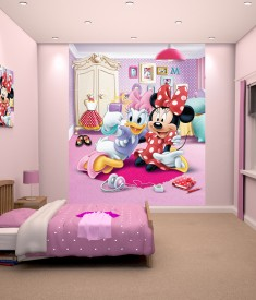 """Disney Minnie Mouse Bedroom Mural 8ft x 6ft 6"""""""