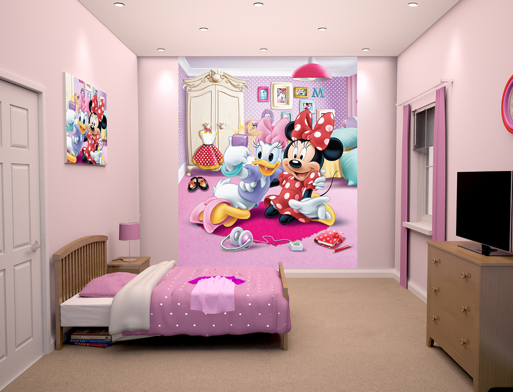 Walltastic Disney Minnie Mouse Bedroom Scene March 2015 1000px