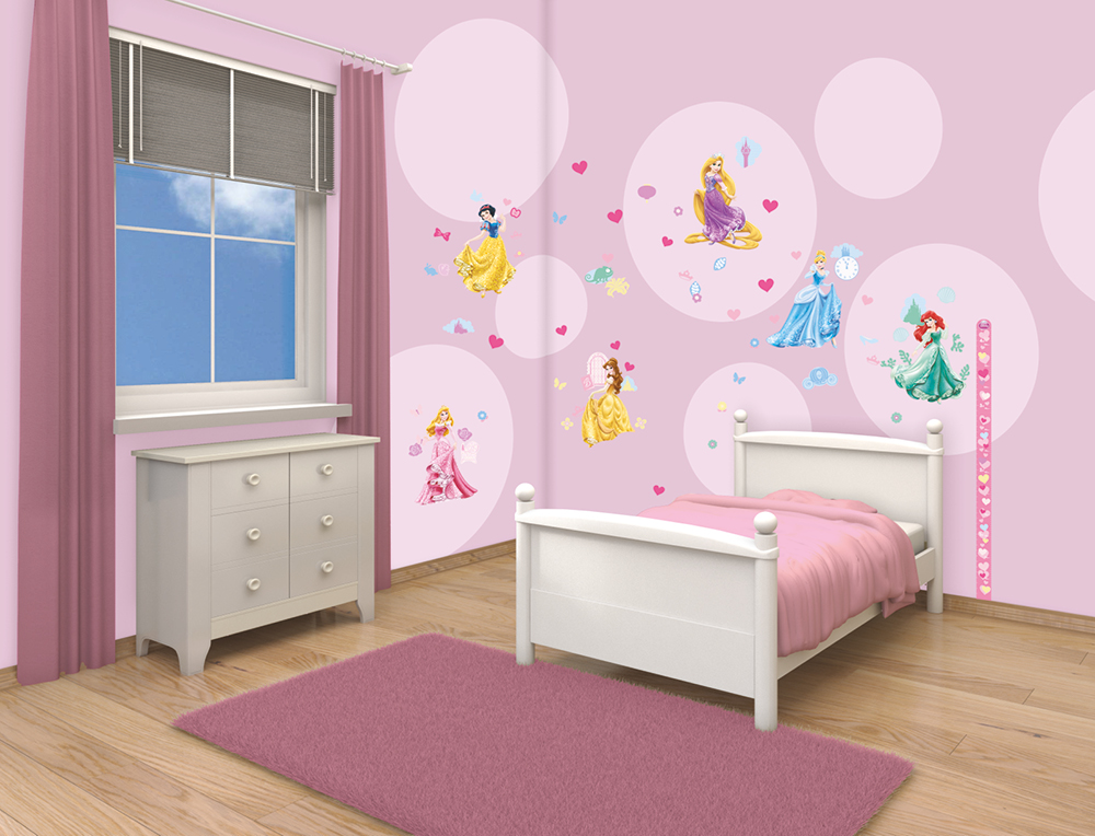 disney princess room decor kit walltastic