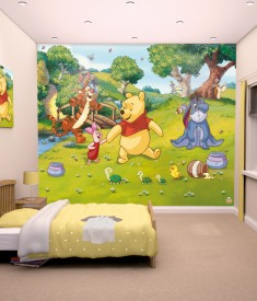 Walltastic Disney Winnie The Pooh XL Wallpaper Mural for Children's & Kids bedroom, photo Mural wall decal