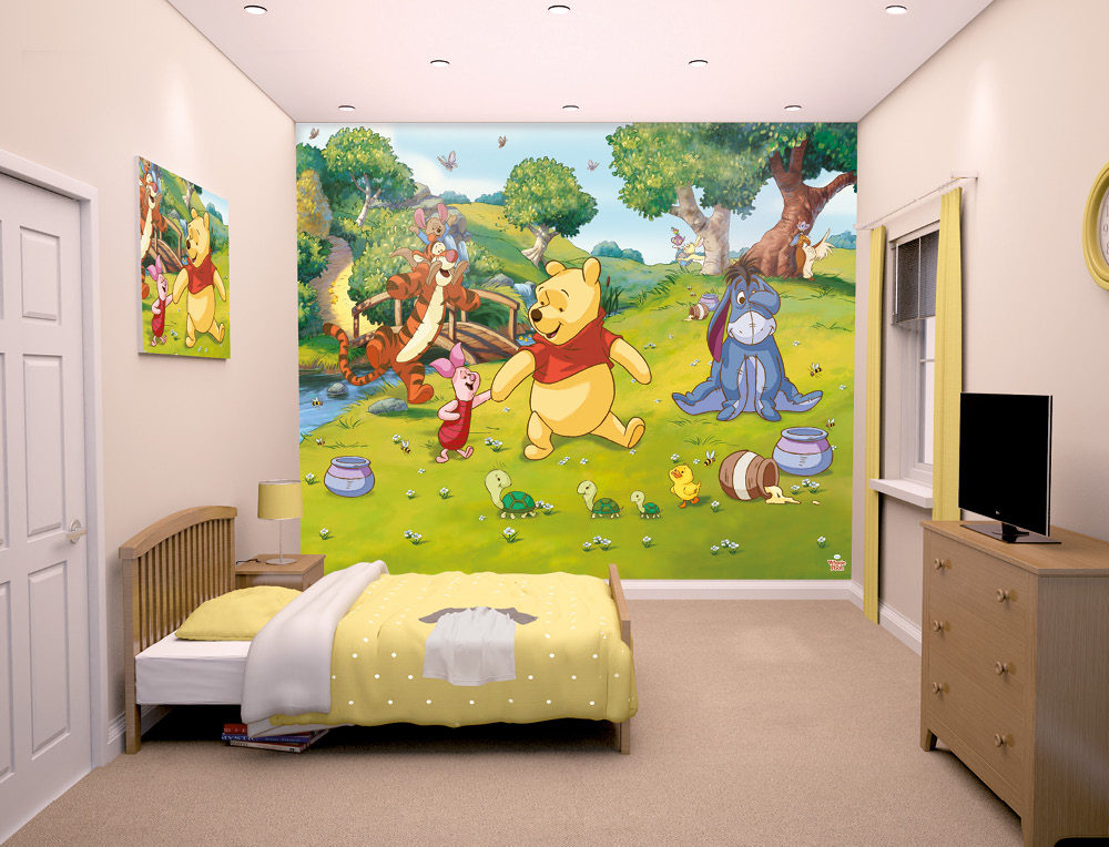 disney winnie the pooh bedroom mural 10ft x 8ft walltastic amusing girls bedrooms interior design ideas with cheerful
