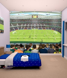 Football stadium wallpaper poster 10ft x 8ft