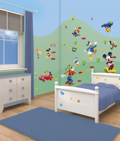 Disney Mickey Mouse XL room décor sticker kit, wall decals sticker sheets for kids & children's bedroom