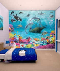 Walltastic under the sea adventure  XL Wallpaper Mural for Children's & Kids bedroom, photo Mural wall decal