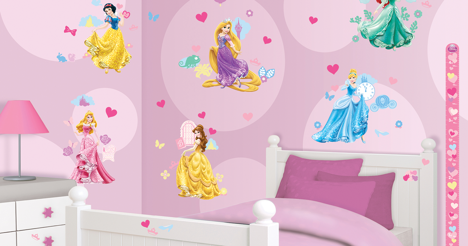 disney princess room decor kit 41455 walltastic