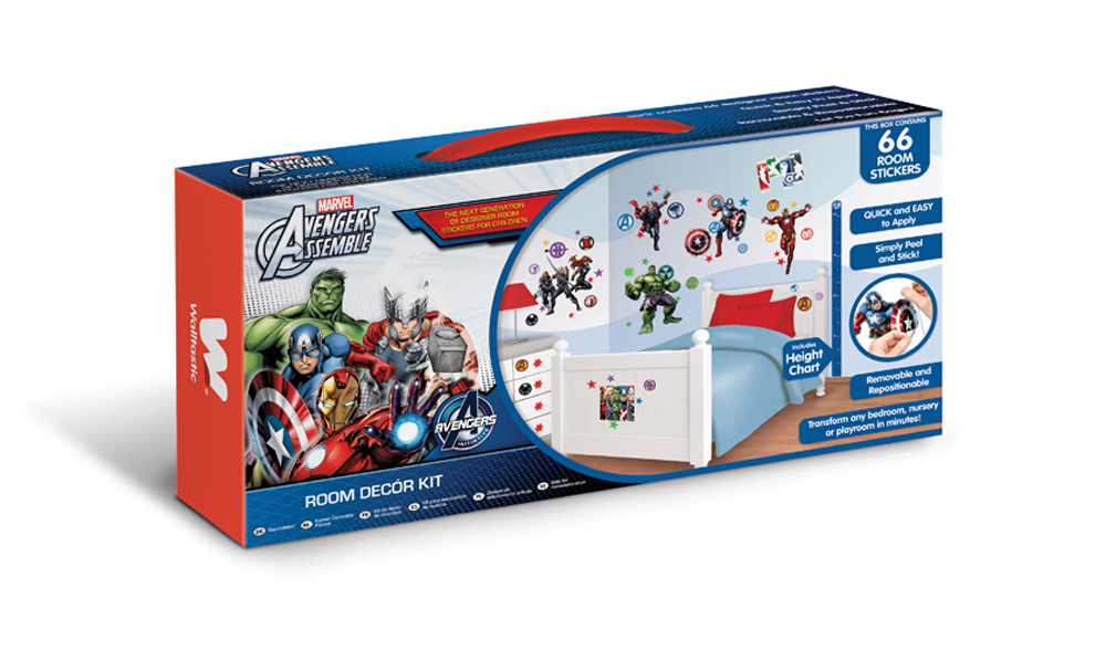 For more information, or for details on how to buy this product: Contact Us - Avengers Assemble Room Decor Kit Walltastic