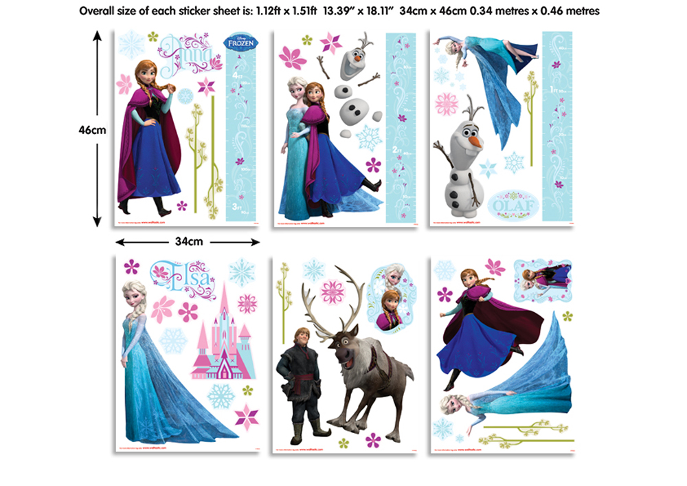 Disney Frozen Room Decor Kit 42988. Disney Frozen Bedroom Decor Kit  Walltastic