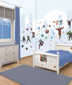 Marvel Avengers room decor sticker kit for kids & children's bedroom, Wall Decals