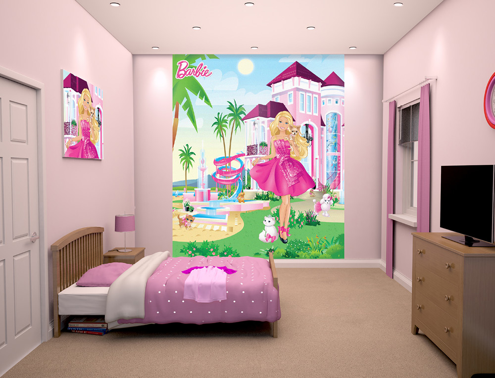 Walltastic Barbie Bedroom Scene March 2015 1000px