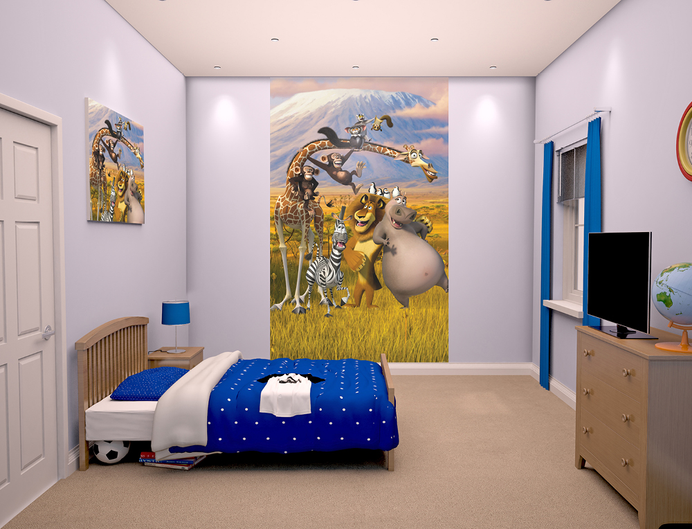 Walltastic Madagascar Bedroom Scene March 2015 1000px