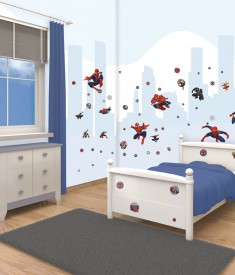 Spiderman room decor sticker kit for kids & children's bedroom, Wall Decals