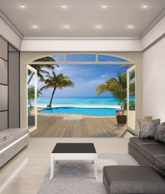 Paradise beach XL Wallpaper Mural for bedroom,office, mancave, sitting room photo Mural