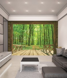 Woodland Forest XL Wallpaper Mural for bedroom,office, mancave, sitting room photo Mural