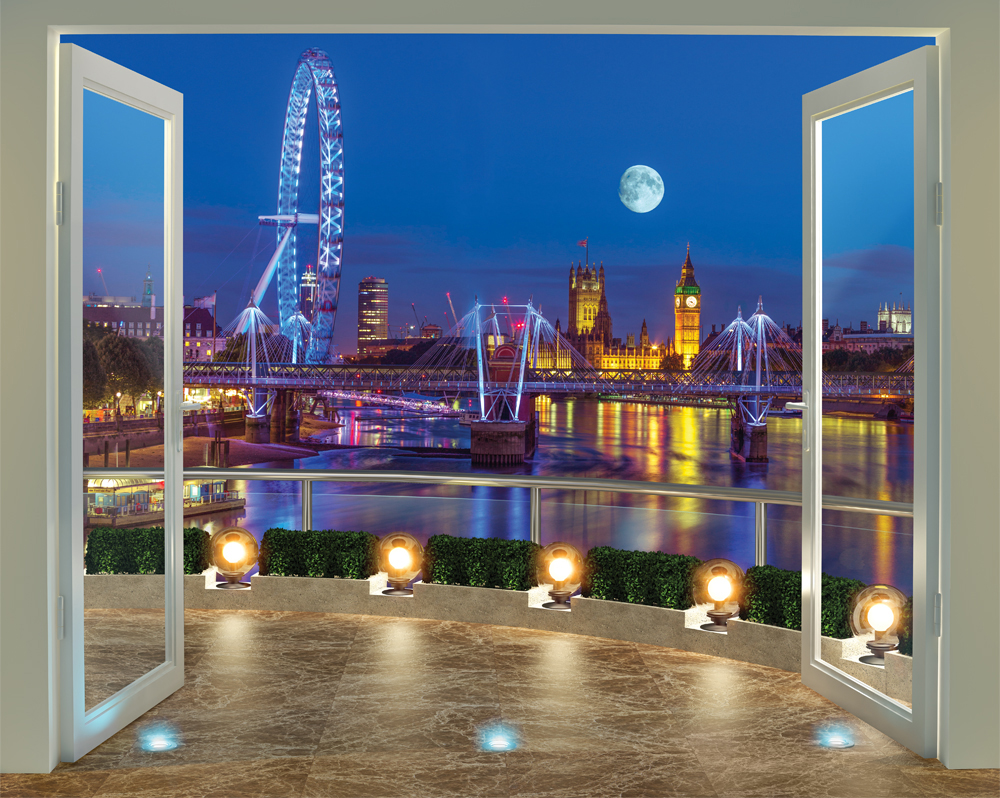 London skyline wall mural 10ft x 8ft walltastic london skyline 43596 12 panel wall mural amipublicfo Choice Image