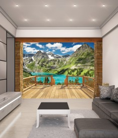 Alpine Mountain XL Wallpaper Mural for bedroom,office, mancave, sitting room photo Mural