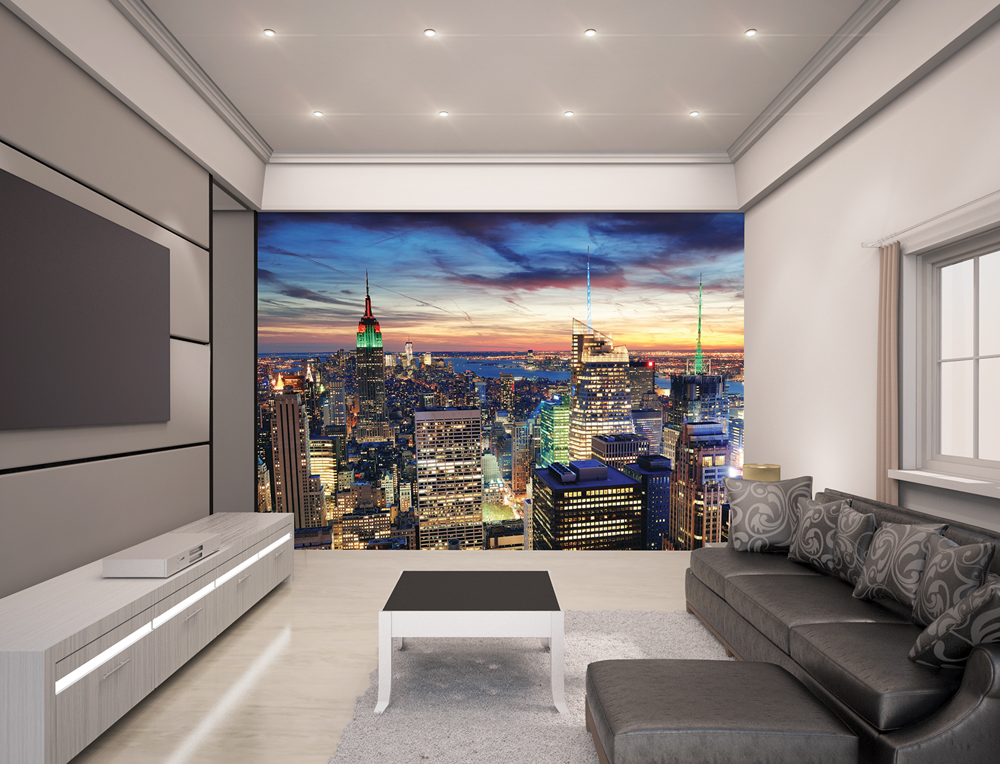 new york city skyline wall mural walltastic. Black Bedroom Furniture Sets. Home Design Ideas