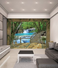 Waterfall XL Wallpaper Mural for bedroom,office, mancave, sitting room photo Mural