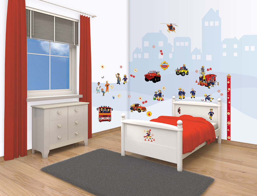 Fireman Sam Bedroom Decor Kit Walltastic