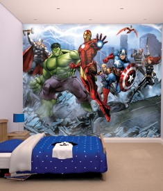 Marvel Avengers Assemble XL Wallpaper Mural for Children's & Kids bedroom, photo Mural