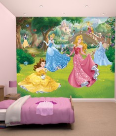 Disney Princess XL Wallpaper Mural for Children's & Kids bedroom, photo Mural