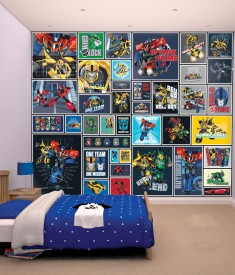Transformers XL Wallpaper Mural for Childrens & Kids bedroom, photo Mural