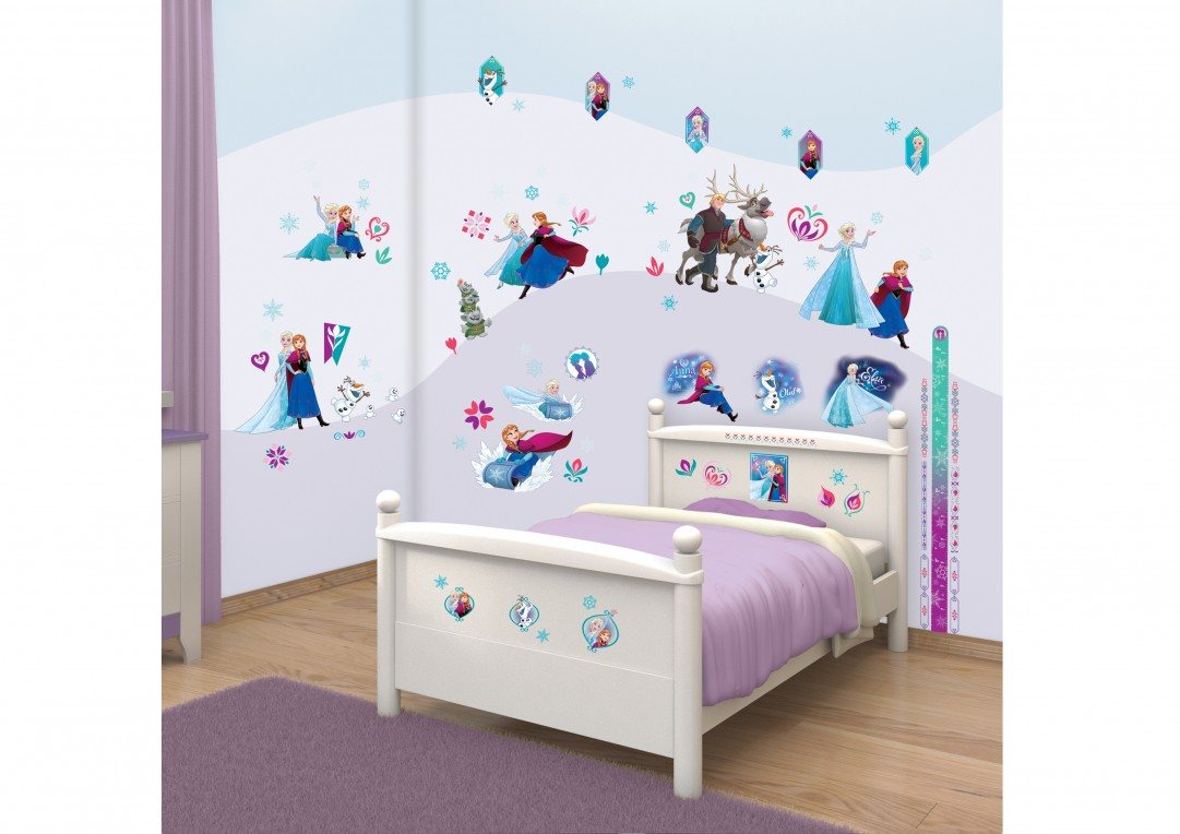 Disney frozen bedroom ideas - Disney Frozen Bedroom Decor Kit Walltastic