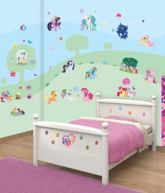 My Little Pony XL Wall Sticker kit bedroom self adhesive decal sheets