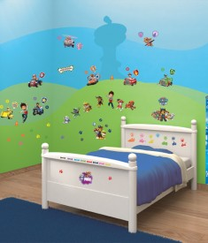 Paw Patrol XL Wall Sticker kit bedroom self adhesive decal sheets,