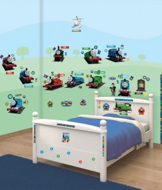 Thomas & Friends XL Wall Sticker kit bedroom self adhesive decal sheets