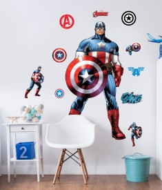 Marvel Captain America Life Size XL Wall Sticker room decal