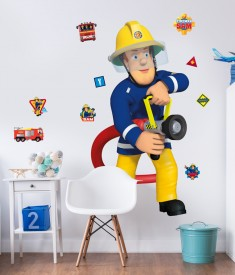 Fireman Sam Life Size XL Wall Sticker room decal
