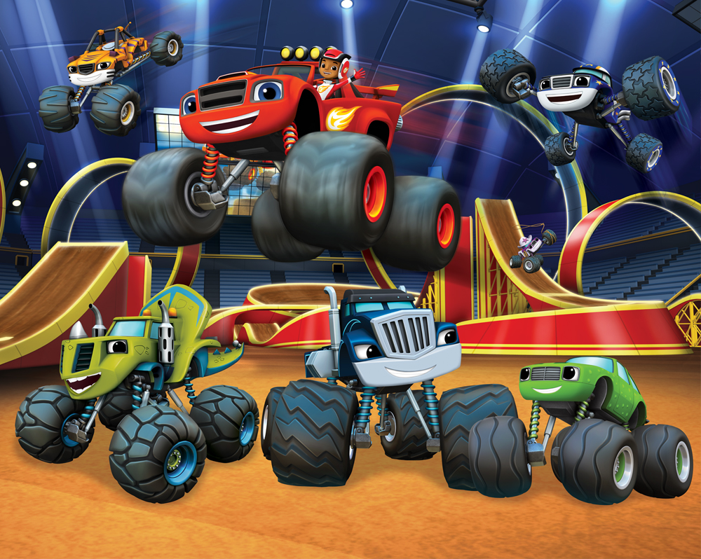 Blaze and the Monster Machines XL Wallpaper Mural Walltastic
