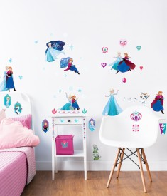 Disney Frozen Wall Stickers Bedroom Scene 1000px - 45088
