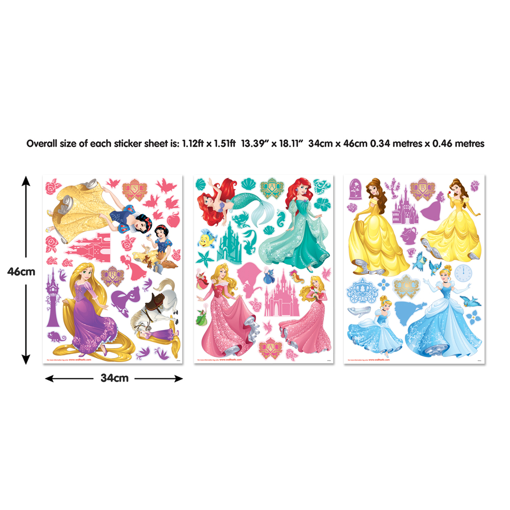 disney princess stickers for walls fathead disney