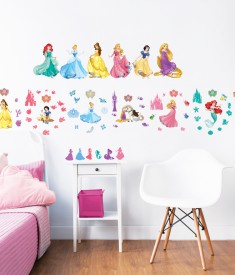 Disney Princess Wall Stickers Bedroom Scene 1000px - 45101