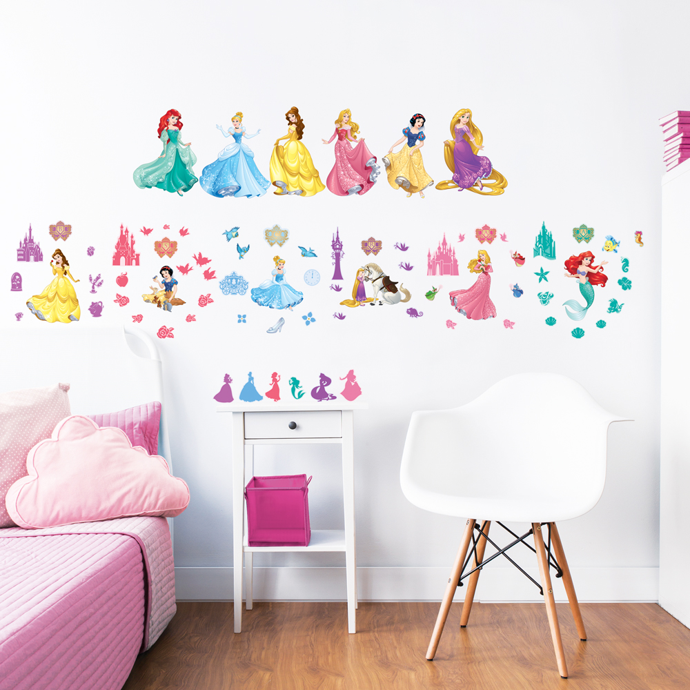disney princess wall stickers walltastic princess fabric wall stickers by littleprints