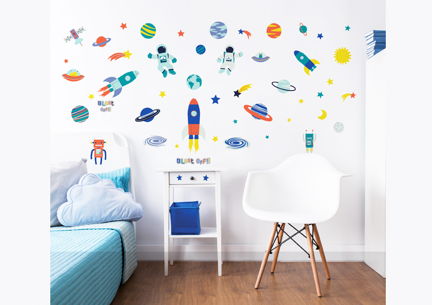 outer space wall stickers walltastic outer space wall decals r wall decal