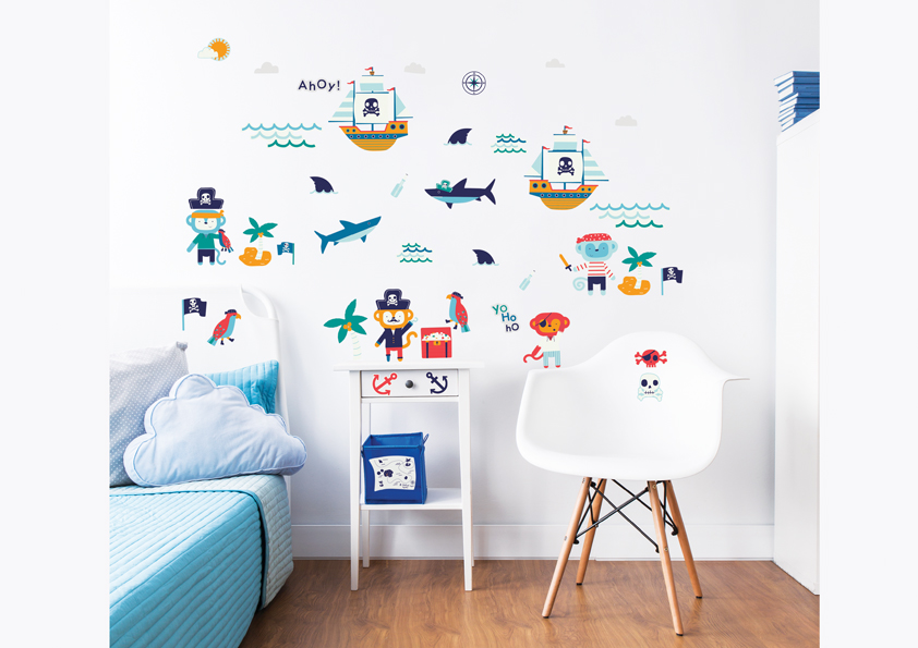 Pirate Wall Stickers Walltastic