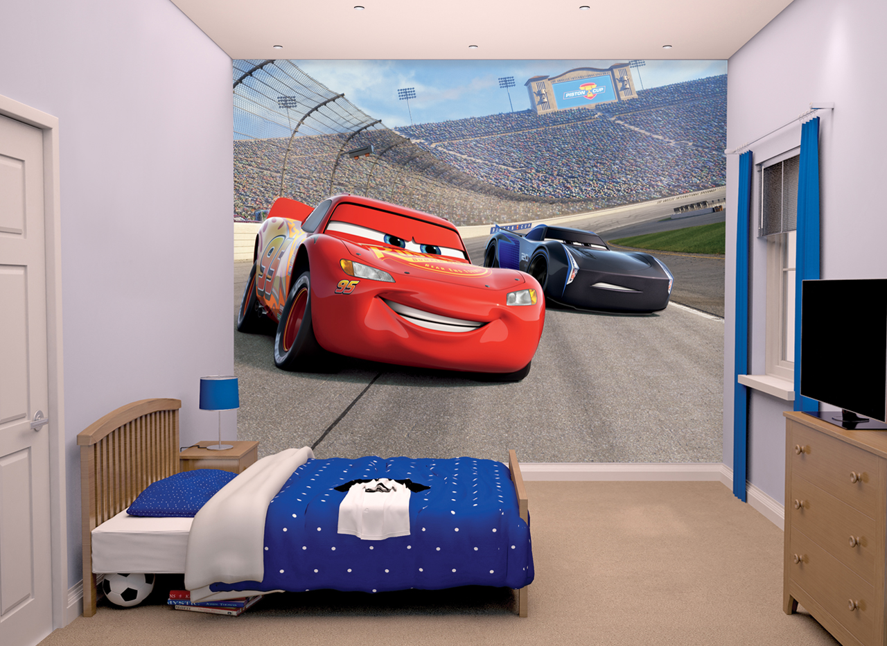 Disney Pixar Cars 3 Wall Mural 8ft X 10ft Walltastic