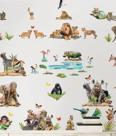 Jungle Safari Room Decor Kit Room Scene 45439